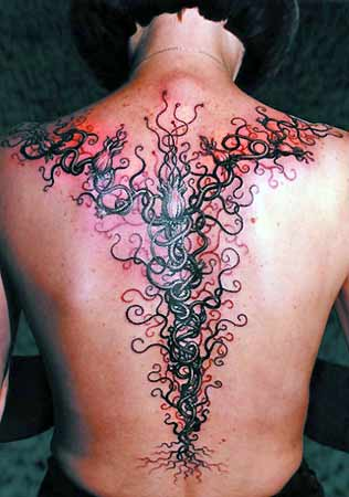 some individuals not hard to find out why spine . tattoos